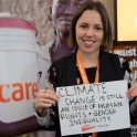 ". ""Climate Change is still an issue of human rights and gender inequality."" — Camilla Schramek, Climate Change Communications Officer at CARE Climate, Copenhagen"
