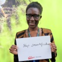 """""""Stop Desertification."""" — Alida Toé, United Nations Convention to Combat Desertification (UNCCD)"""