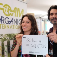 """Soil is the Solution."" — Kashif Khan, Federica Varini- International Federation of Organic Agriculture Movements"