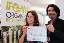 """""""Soil is the Solution."""" — Kashif Khan, Federica Varini- International Federation of Organic Agriculture Movements"""